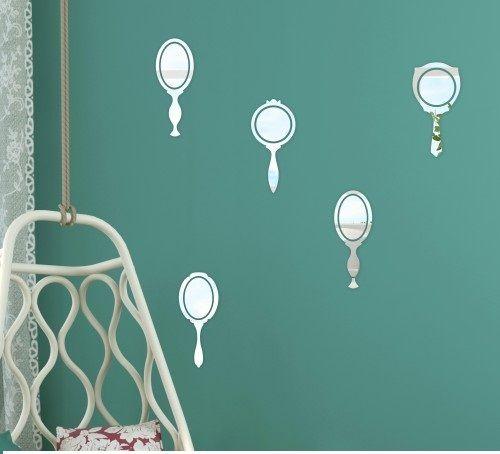 Komplet lusterek dekoracyjnych do sypialni
