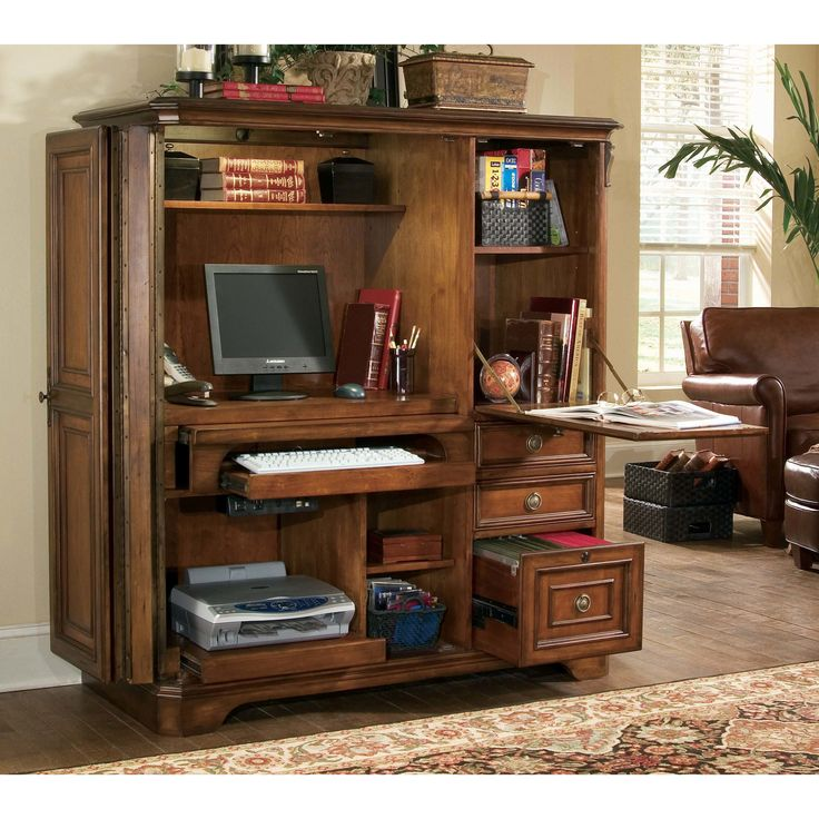 Hooker Furniture Brookhaven Armoire Desk & Reviews   Wayfair