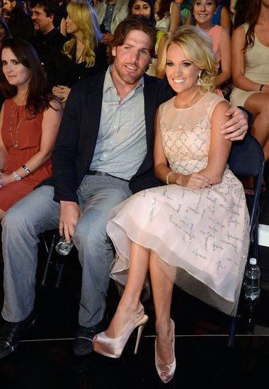 Carrie Underwood with her husband Mike Fisher at the 2013 CMT Music Awards