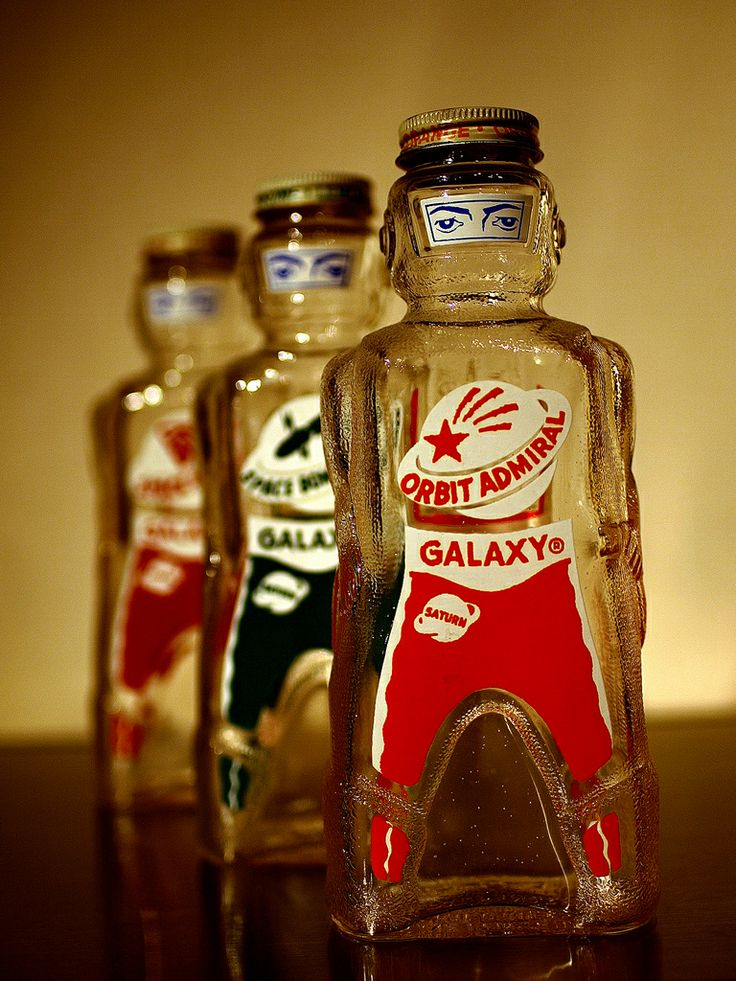 1953 Galaxy (soda syrup) Spaceman Bottle Banks by Space Foods Company, Baltimore, MD