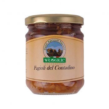 Fasolka chłopska to najlepsze włoskie rośliny strączkowe, z dodatkiem oliwy z oliwek i przypraw. Świetna propozycja do mięs, wędlin, a także potraw grillowanych. Polecana także jako dodatek do piwnej biesiady.