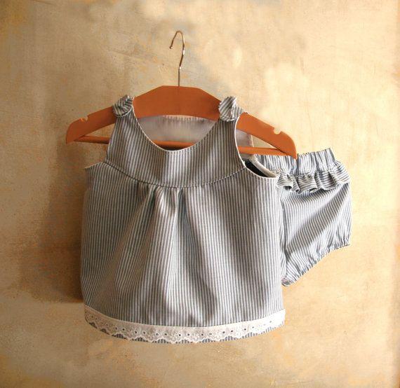 CLICK HERE TO BUY: newborn baby outfit nautical dress blue striped take by PABUITA https://www.etsy.com/shop/PABUITA