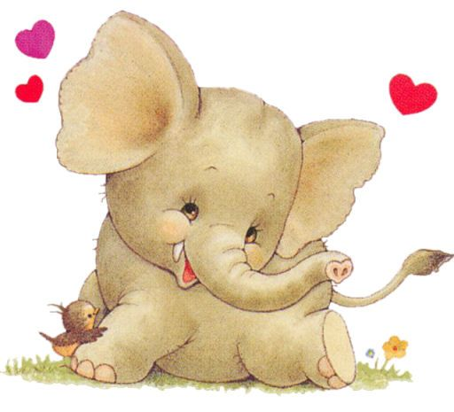 ELEPHANT Bonitas láminas para pintar, como patrón para decorar o como cuadro encantador.
