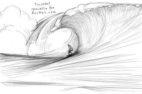 How to draw waves step 5