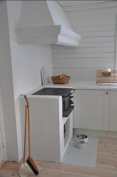 Newly built in Swedish vedspis / wood cooker