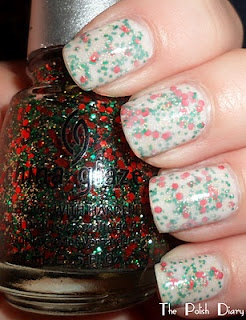 adorable christmas jelly sandwich nails