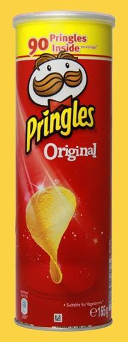 The man in the Pringles' logo is called Julius Pringles.