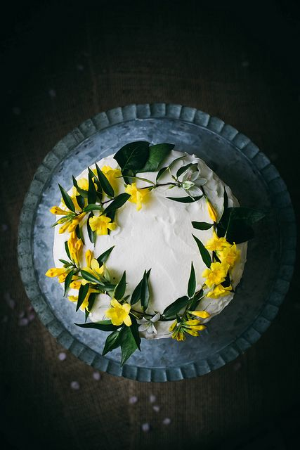 coconut tres leches cake by Beth Kirby   {local milk}, via Flickr   I LOVE THE FLOWERS
