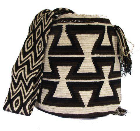 Mochila Wayuu Blanca/Negra