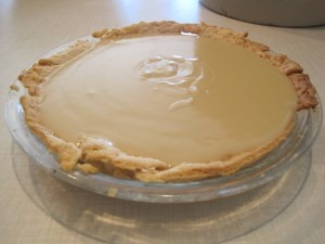 Butterscotch Pie-- my favorite!  With or without meringue.