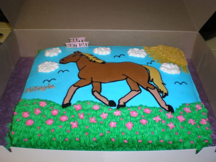 buttercream horse cake made for niece's bday photo MikaylasCake.jpg