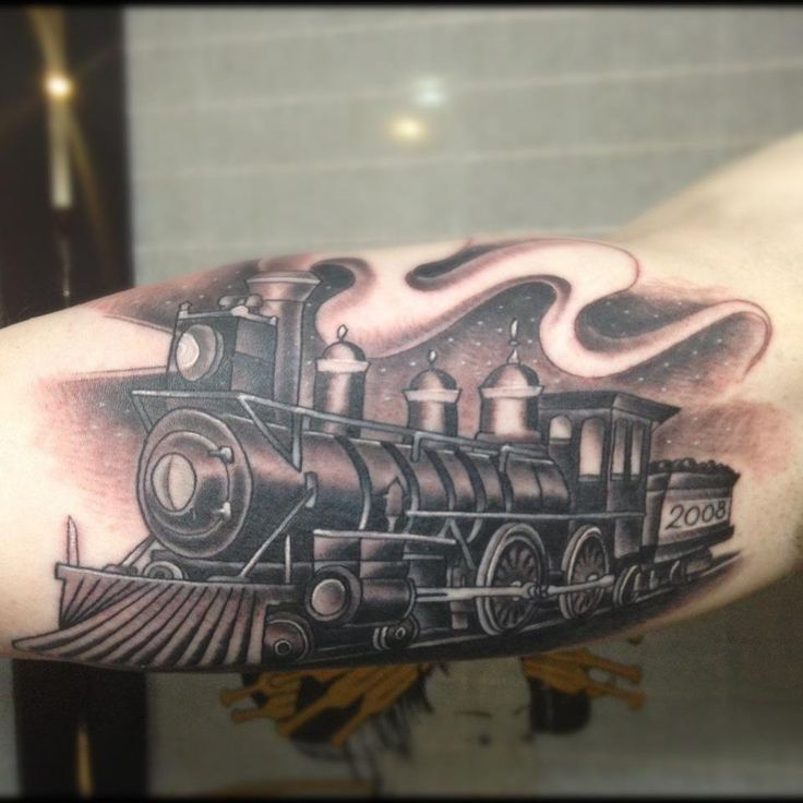 40 Awesome steam train tattoo images