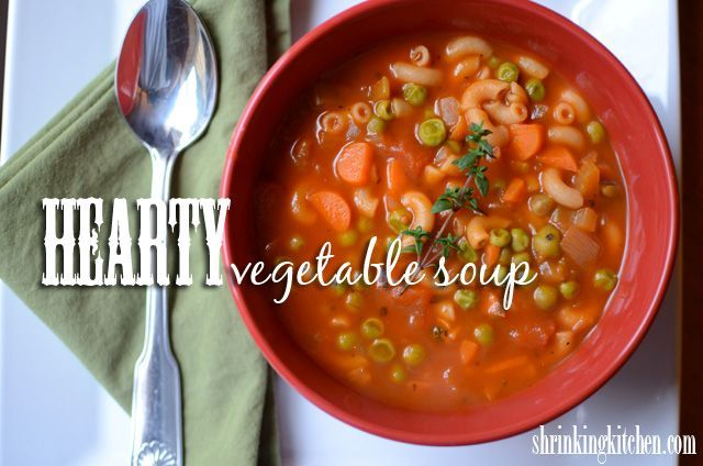Hearty Vegetable Soup #light #easy #soup