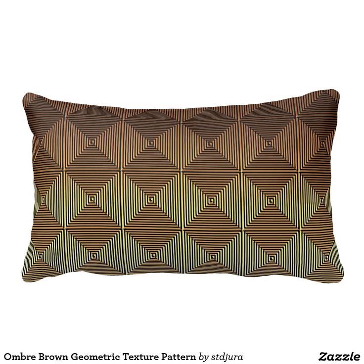 Ombre Brown Geometric Texture Pattern Throw Pillow
