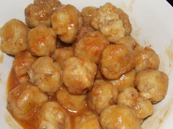 Albondigas de patata y sepia