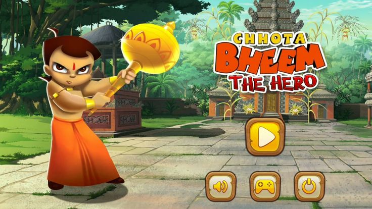 Chhota Bheem Hero Hindi Games for Children Protect the Kingdom from Enem...