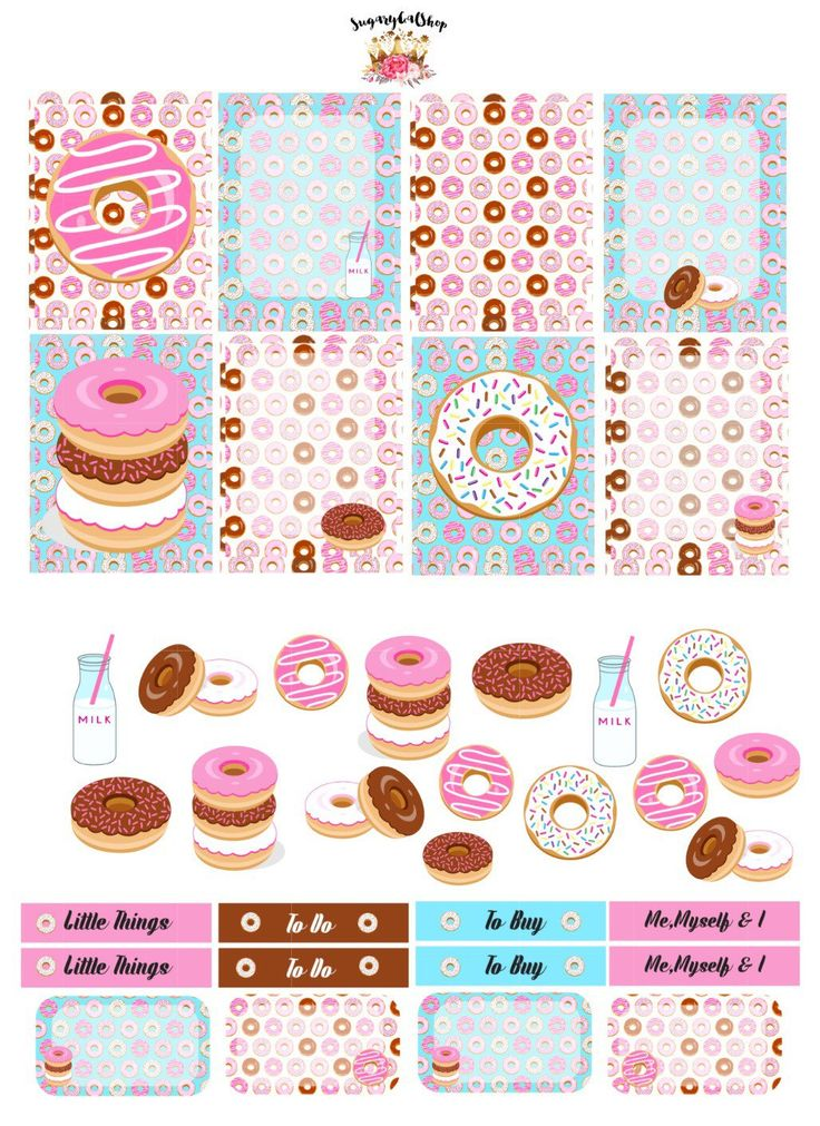 NEW Donuts Planner Sticker Set Sugar Collection by SugaryGaLShop