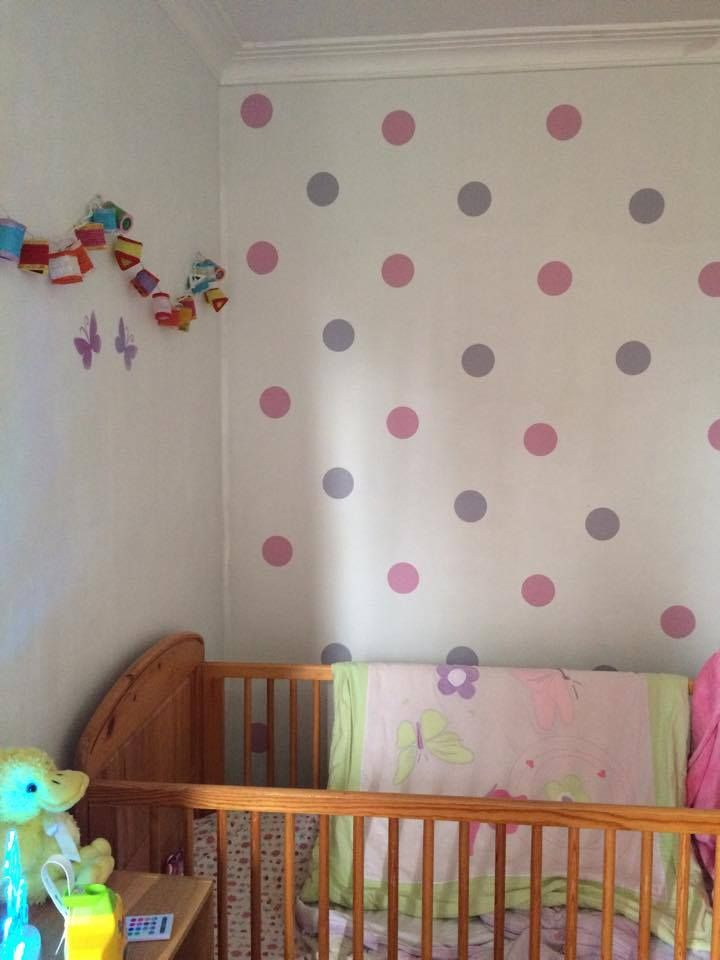 Removable Polka dot stickers by BC Magic Wallpaper