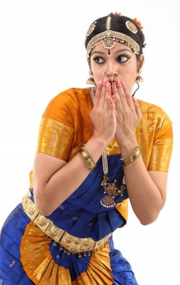 Bharatanatyam dancer, great expression.