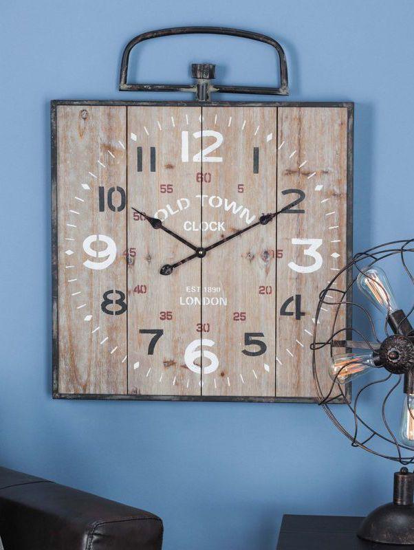 Farmhouse Distressed Wall Clock   Wall Decor   Pinterest ...