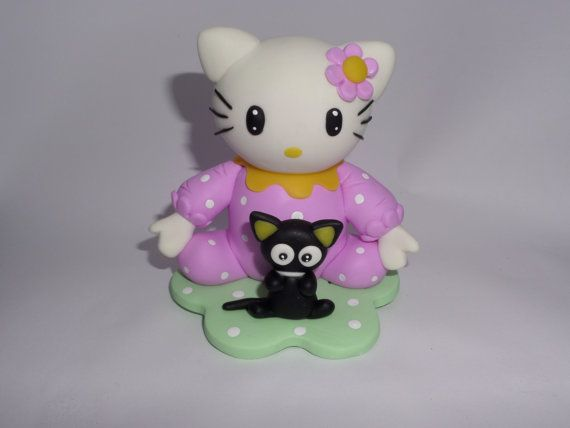 Hello Kitty and chococat. cake topper  decoration  by NatuDesigns, $9.99