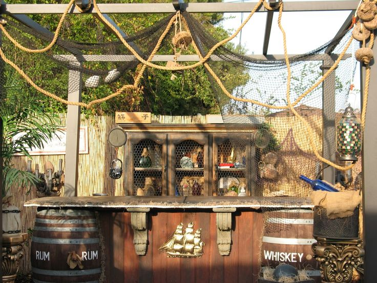 Finished my pirate bar  Pirate Back Yard  Pirate decor Pirates Backyard bar