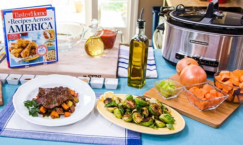 Home & Family - Recipes - Cristina Cooks: Slow-Cooked Caribbean Pot Roast & Lemon-Butter Brussels Sprouts | Hallmark Channel