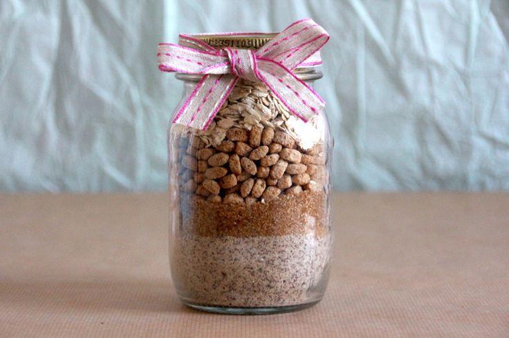 Haferfleks Kekse Backmischung im Glas aus dem eBook Geschenke im Glas http://www.joinmygift.com/ebook/geschenke-im-glas/