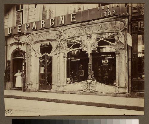 Boutique art nouveau, 45 rue st. Augustin (2e arr) by George Eastman House, via Flickr