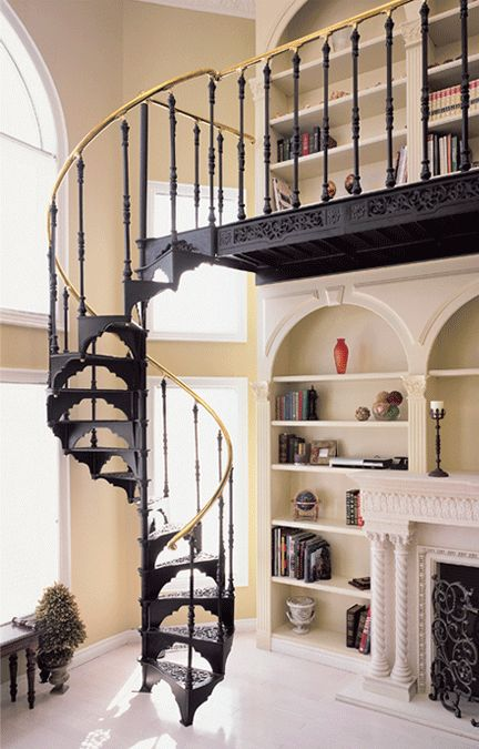 a gorgeous cast iron staircase