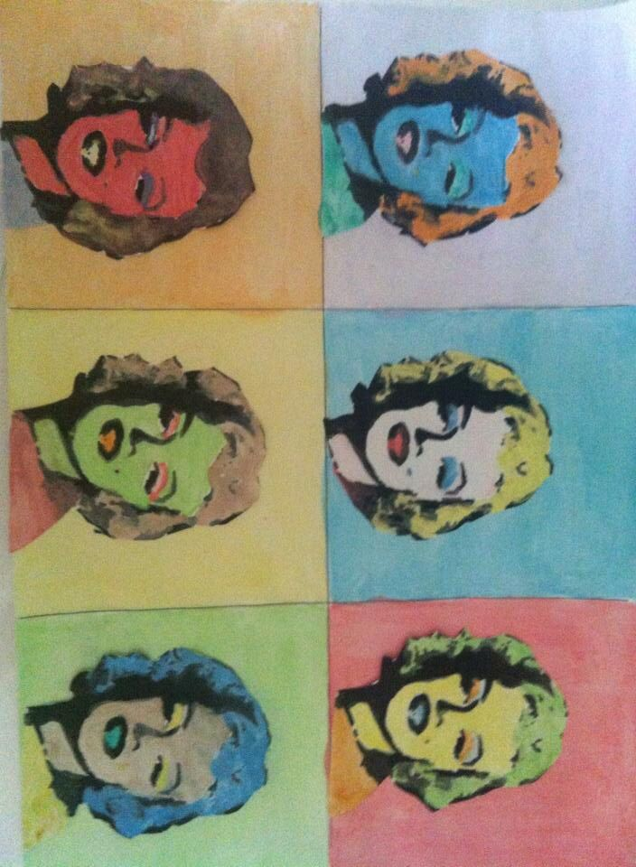 Taller sobre Warhol #arte #niños CaminArt