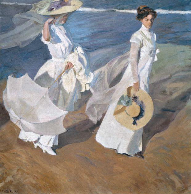 Joaquin Sorolla, Strolling along the Seashore, 1909, Museo Sorolla, Madrid