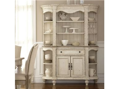 Shop For Riverside Server Hutch And Other Dining Room Cabinets At Union Furniture In MO Each Outside Section Has Two Fixed Shelves With A