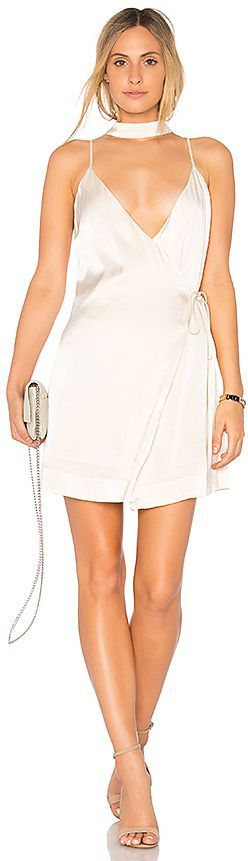 REVOLVE - Endless Rose Satin Slip Dress. Endless Rose Satin Slip Dress in Cream. - size S (also in XS,M,L) Endless Rose Satin Slip Dress in Cream. - size S (also in XS,M,L) Poly blend. Hand wash cold. Fully lined. Wrap front with tie closures. Attached choker detail. Hidden back zipper closure.  *AFFILIATE