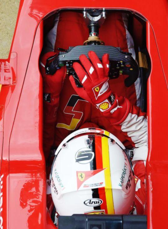 Sebastian Vettel in Ferrari - req. by fuckyeahf1ndseb
