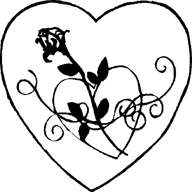 88 best Coloring pages images on Pinterest Coloring for adults - fresh coloring pages roses and hearts