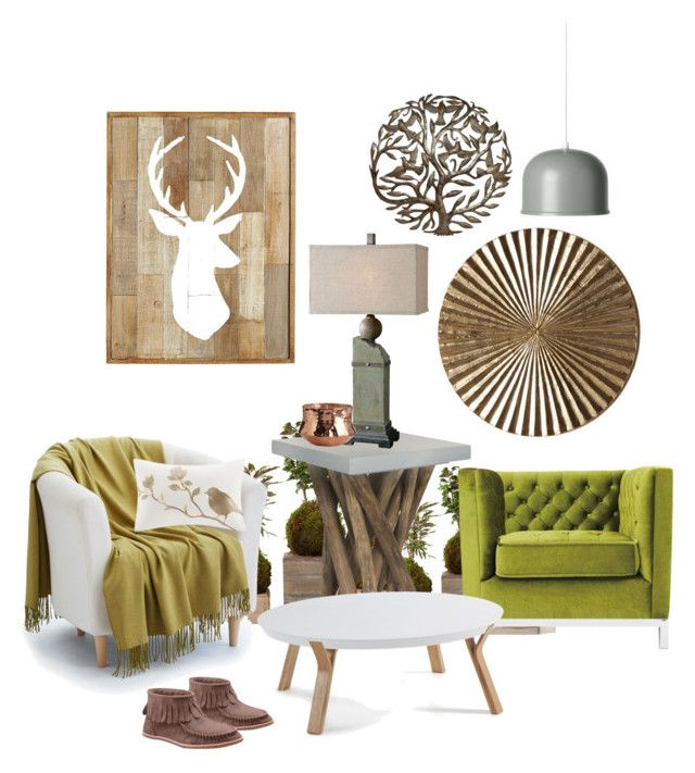 """Moss green and rust idea"" by marievel on Polyvore featuring interior, interiors, interior design, home, home decor, interior decorating, Dot & Bo, Safavieh, Epoque and Madison Park"