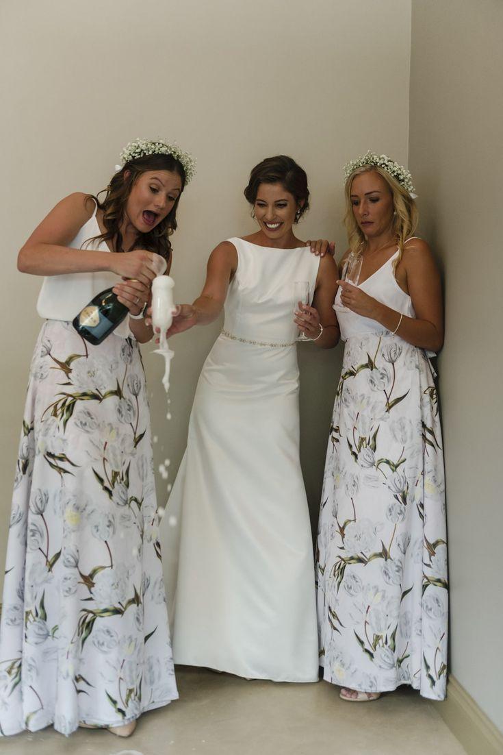 Beach Wedding Dresses Floral Print