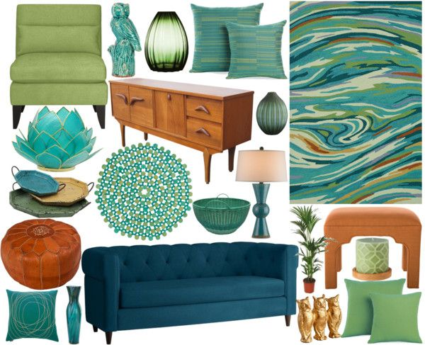 """Untitled #950"" by andyloves7 on Polyvore- and not to mention DAT COUCH. And DAT ARTICHOKE."