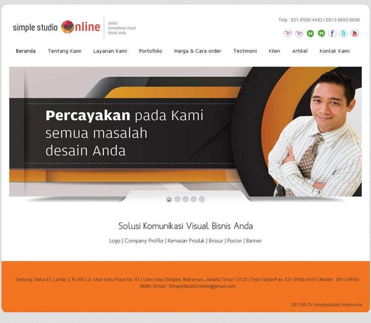 salah satu web jadonya graphic design di kota Jakarta - Simple Studio Online. simplestudioonline.com