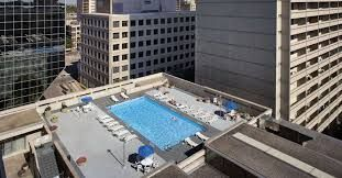 The Delta's rooftop pool is an ideal spot to take in the cityscape while beating the heat of summer