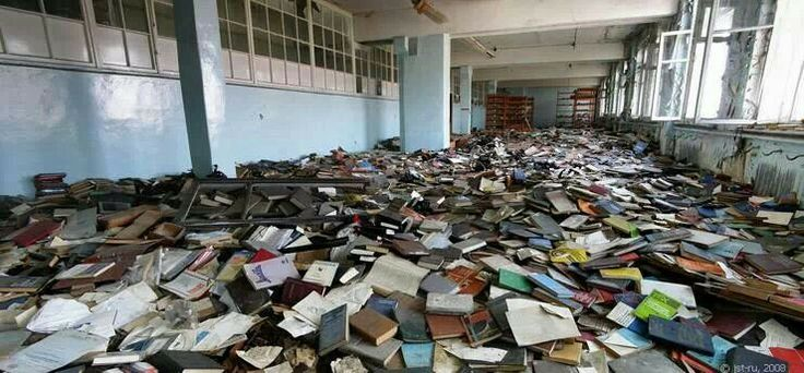 Biblioteca abandonada a Rusia