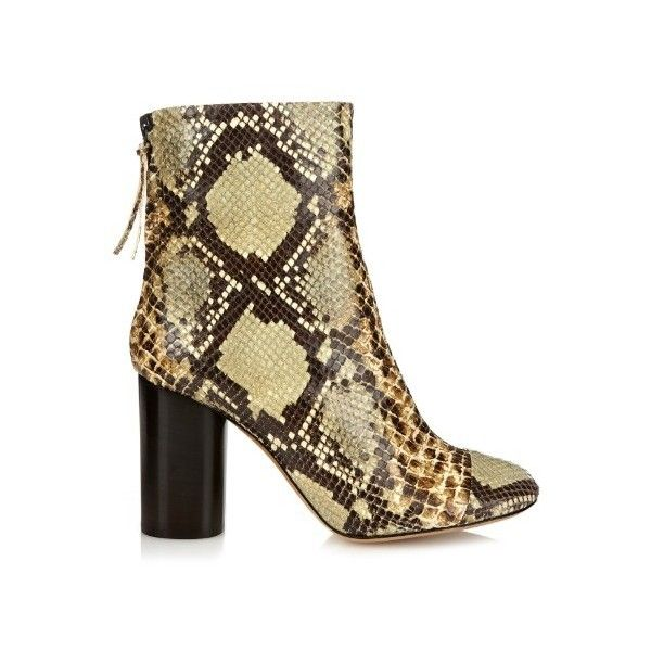 ISABEL MARANT Grover faux snakeskin ankle boots