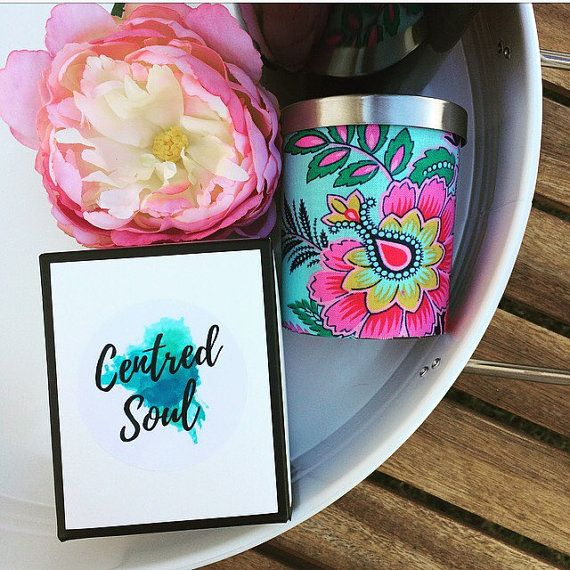 super pretty candle holder, reusable candle container, bright floral design and 25% of sale price is donated to Make For Good on Etsy, you can even choose the fragrance of the candel you receive. Makeforgood  Hand Covered Candle  Limited Edition  by CentredSoul