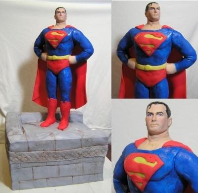 Superman Cake By Spense #CakesInspiredByFilm #AmazingCakeDecorating