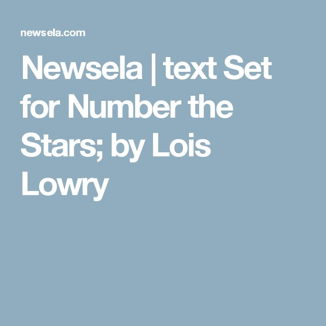 an analysis of number the stars and the giver by lois lowry Laurenthereader: 'the ending of the giver is powerful because we have a choice in what it means' close skip to main content switch to the us edition the giver by lois lowry - review 'the ending of the giver is powerful because we have a choice in what it means.