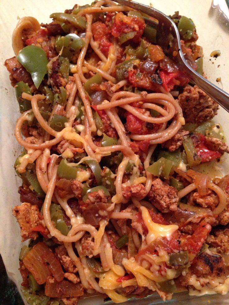 Spaghetti Mit Gruner Paprika Gemahlenes Fettfreies Putenfleisch In Taco Gewurzen Putenfleisch Gefullte Paprikaschoten Und Kochrezepte