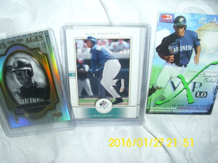 """BASEBALL """"ALEX RODRIGUEZ"""" CD-ROM CARD, SP AUTHENTIC #16, """"ONE FOR THE AGES"""" UD #SEATTLEMARINERSTEXASRANGERS"""