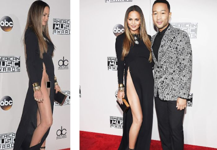 Chrissy Teigen apologizes for exposing her privates when she suffered wardrobe malfunction at the AMAs 2016 (Picc)   See More at : http://theinfong.com/2016/11/chrissy-teigen-apologizes-for-exposing-her-privates-when-she-suffered-wardrobe-malfunction-at-the-amas-2016/