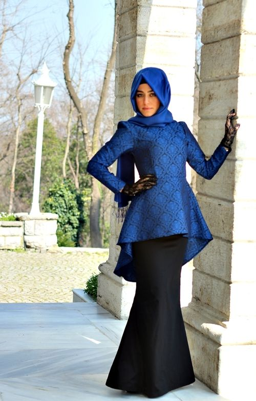 Blue formal #hijab#style#muslimah